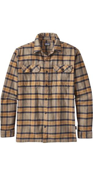 Patagonia Fjord overhemd en blouse lange mouwen Heren bruin